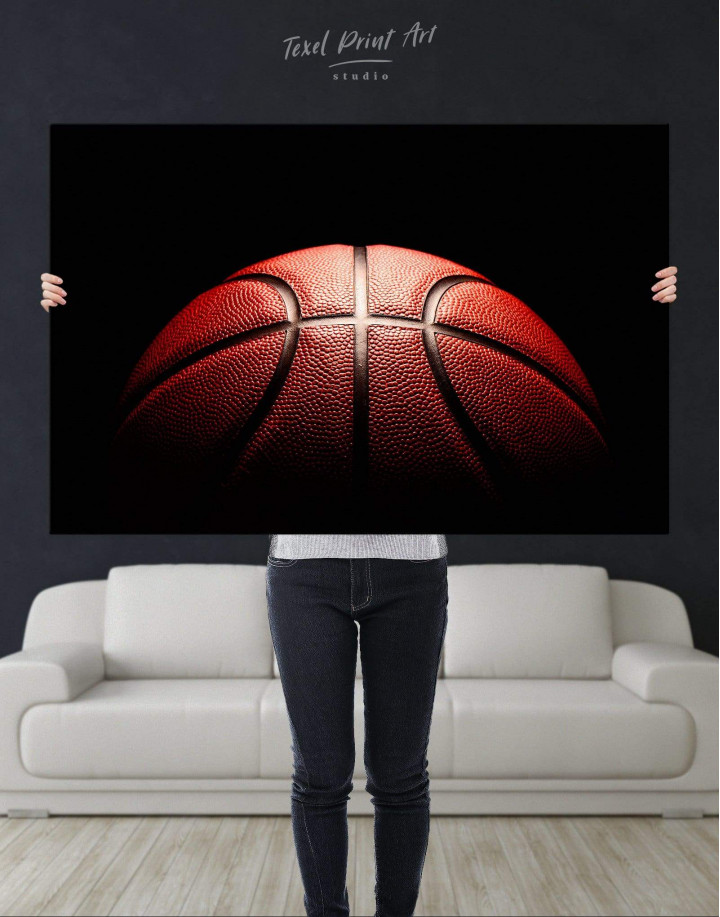 Basketball Ball Canvas Wall Art - Image 4
