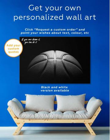 Basketball Ball Canvas Wall Art - image 1