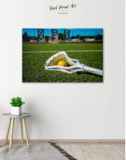 Lacrosse Game Canvas Wall Art
