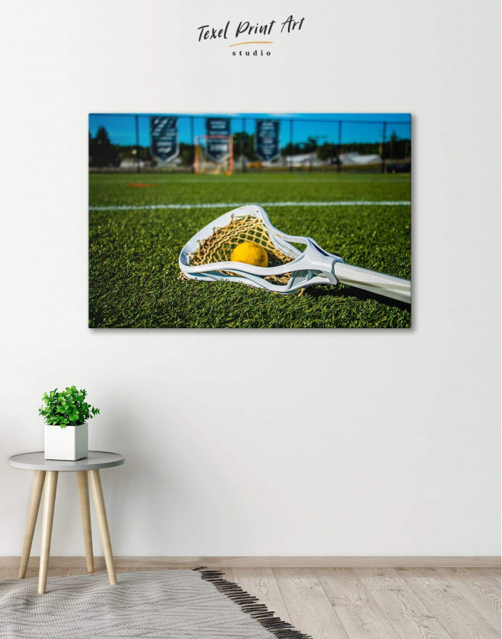 Lacrosse Game Canvas Wall Art - Image 0