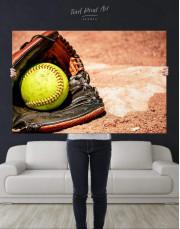 Softball Stick and Ball Canvas Wall Art - Image 4