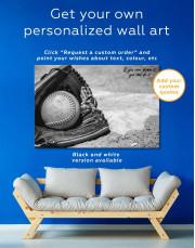 Softball Stick and Ball Canvas Wall Art - Image 1