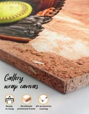 Softball Stick and Ball Canvas Wall Art - Image 5