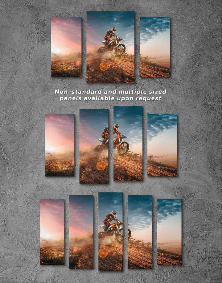 Extreme Motocross Canvas Wall Art - Image 2
