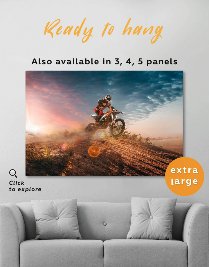 Extreme Motocross Canvas Wall Art - Image 0