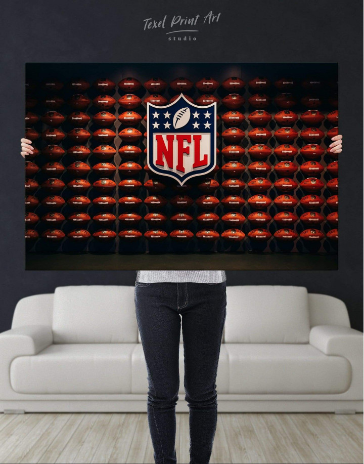 NFL Rugby Logo Canvas Wall Art - Image 4