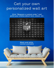 NFL Rugby Logo Canvas Wall Art - Image 1