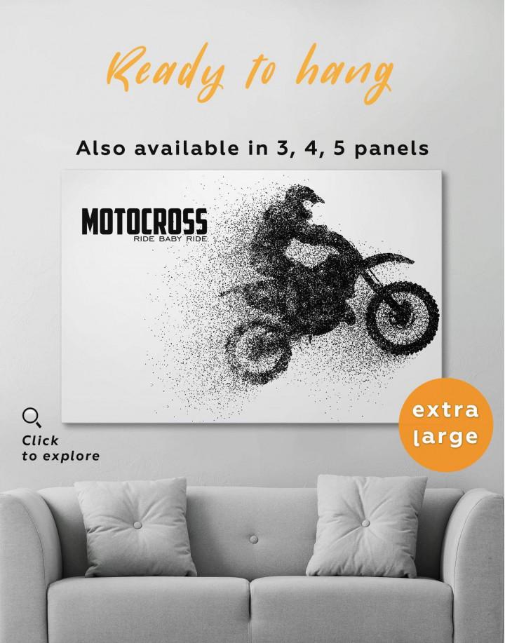 Motocross Ride Baby Ride Canvas Wall Art