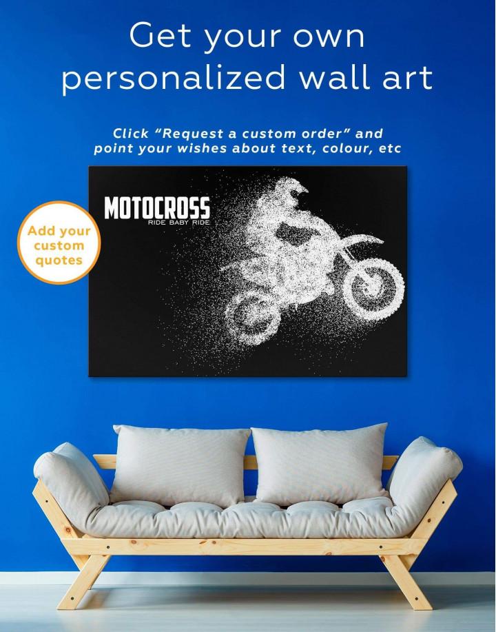 Motocross Ride Baby Ride Canvas Wall Art - Image 1
