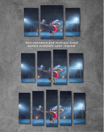 Gymnastic Girl with Ball Canvas Wall Art - image 4