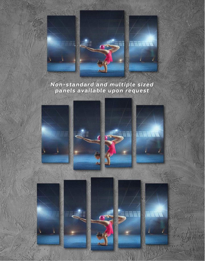 Gymnastic Girl with Ball Canvas Wall Art - Image 2
