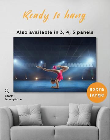 Gymnastic Girl with Ball Canvas Wall Art