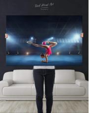 Gymnastic Girl with Ball Canvas Wall Art - Image 2