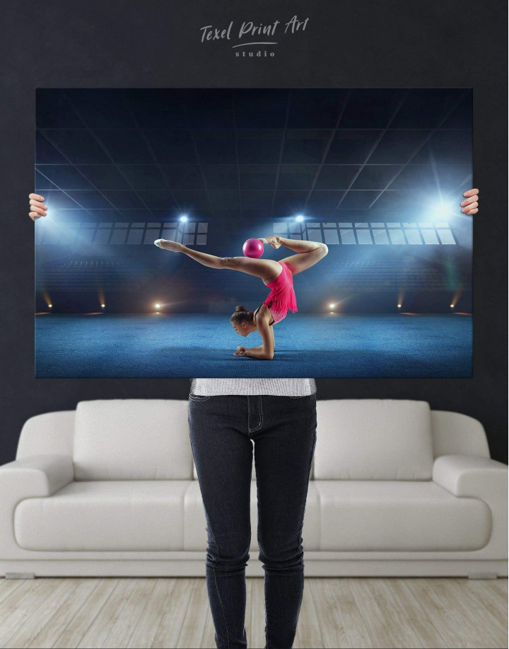 Gymnastic Girl with Ball Canvas Wall Art - Image 4