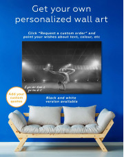 Gymnastic Girl with Ball Canvas Wall Art - Image 5