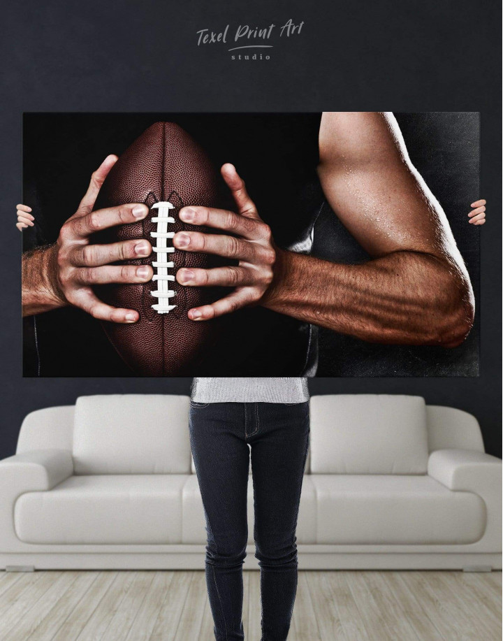 Rugby Sportsman Canvas Wall Art - Image 4