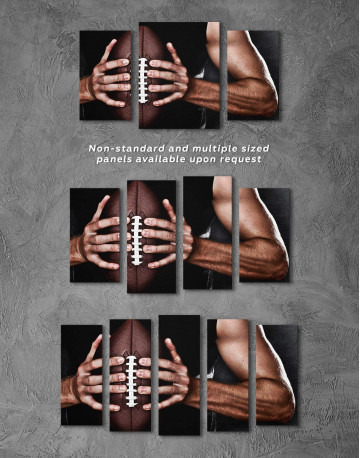 Rugby Sportsman Canvas Wall Art - image 2