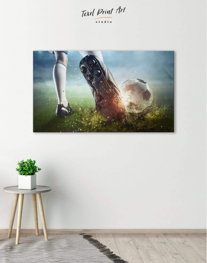 Soccer Player Canvas Wall Art - Image 0