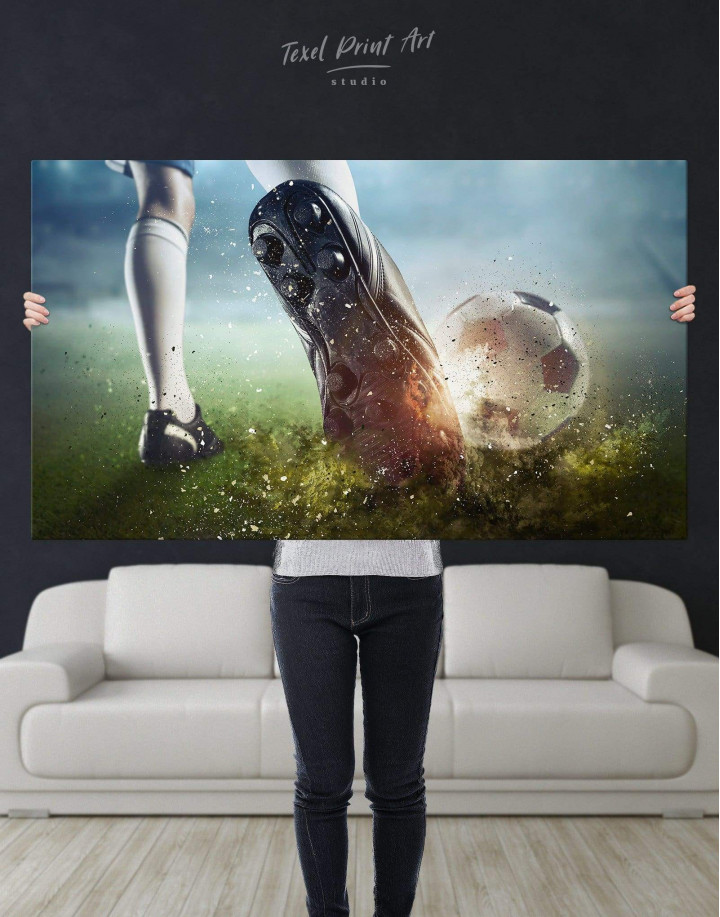 Soccer Player Canvas Wall Art - Image 4