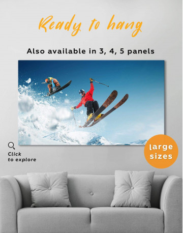 Extreme Skiing Canvas Wall Art