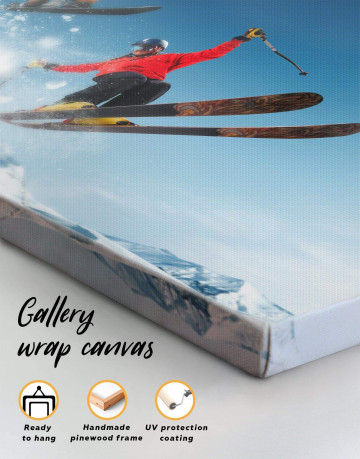Extreme Skiing Canvas Wall Art - image 1