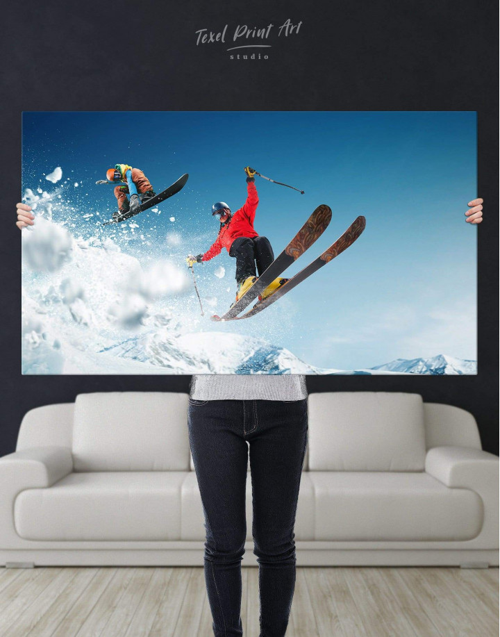 Extreme Skiing Canvas Wall Art - Image 2