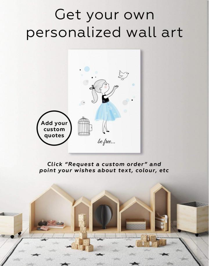 Baby Girl Nursery Canvas Wall Art - Image 1