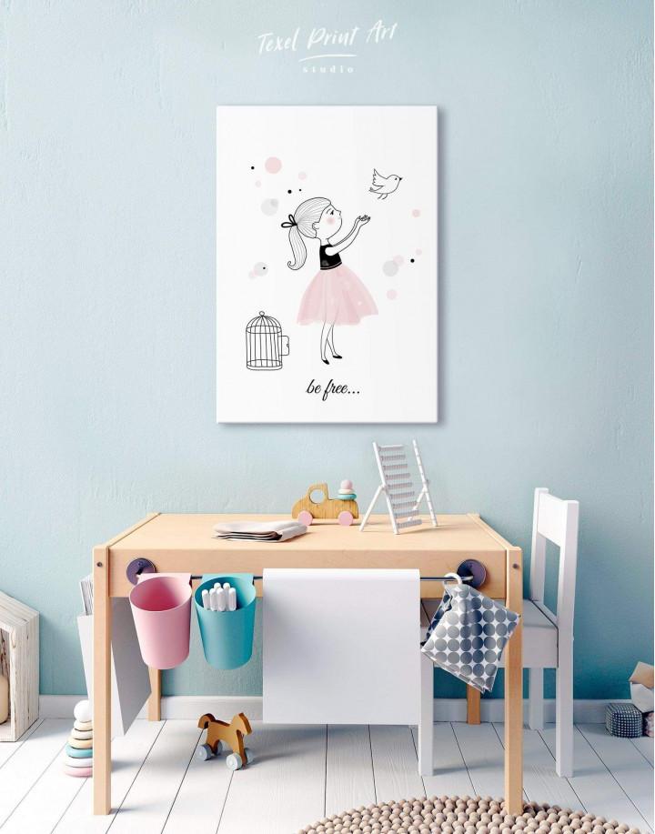 Baby Girl Nursery Canvas Wall Art - Image 5