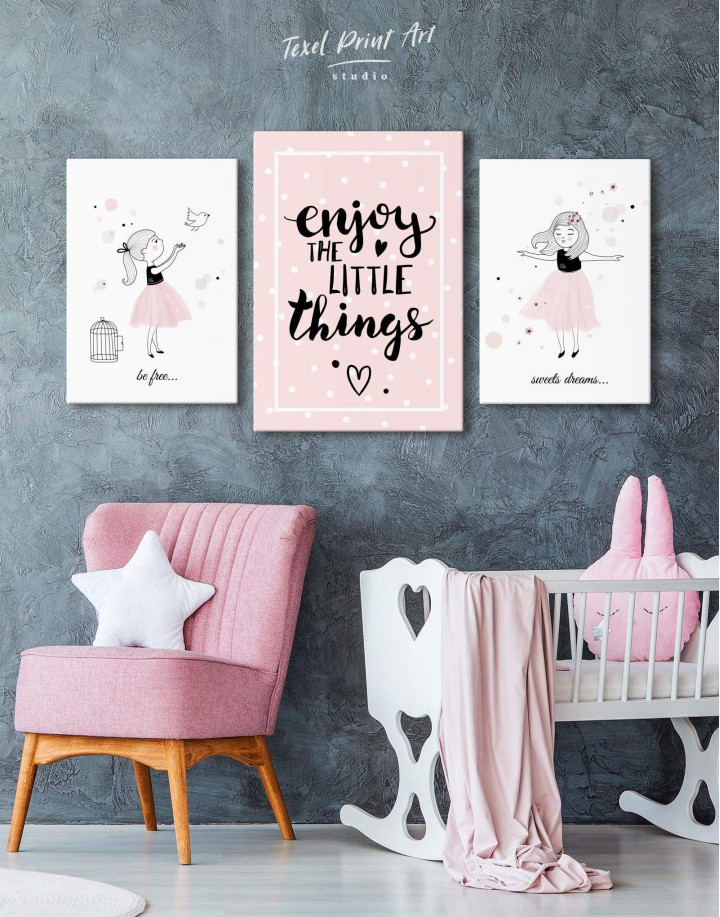 Baby Girl Nursery Canvas Wall Art - Image 3