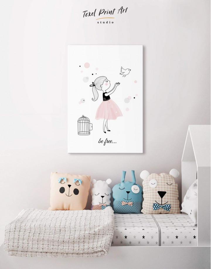 Baby Girl Nursery Canvas Wall Art - Image 4