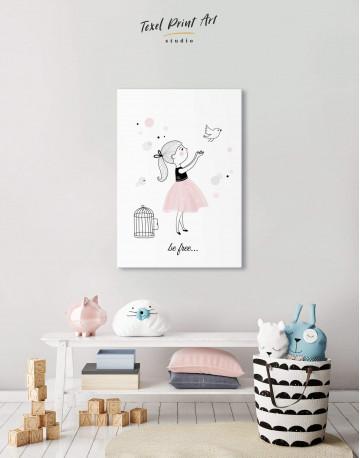 Baby Girl Nursery Canvas Wall Art