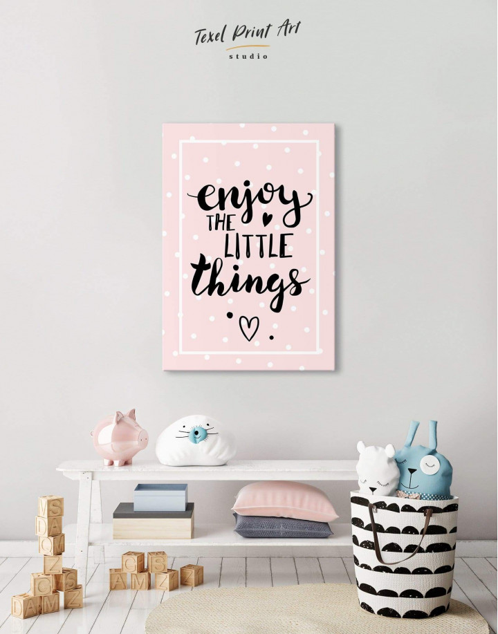 Enjoy the Little Things Canvas Wall Art