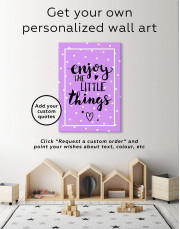 Enjoy the Little Things Canvas Wall Art - Image 1
