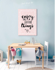 Enjoy the Little Things Canvas Wall Art - Image 6