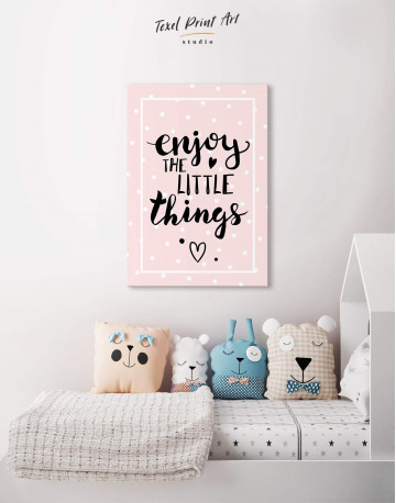 Enjoy the Little Things Canvas Wall Art - image 4