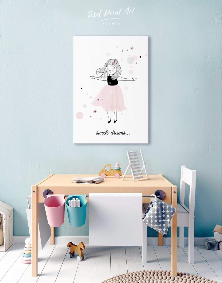 Girls Sweets Dreams Canvas Wall Art