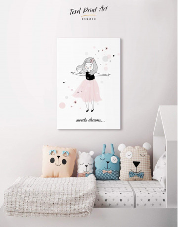 Girls Sweets Dreams Canvas Wall Art - image 4