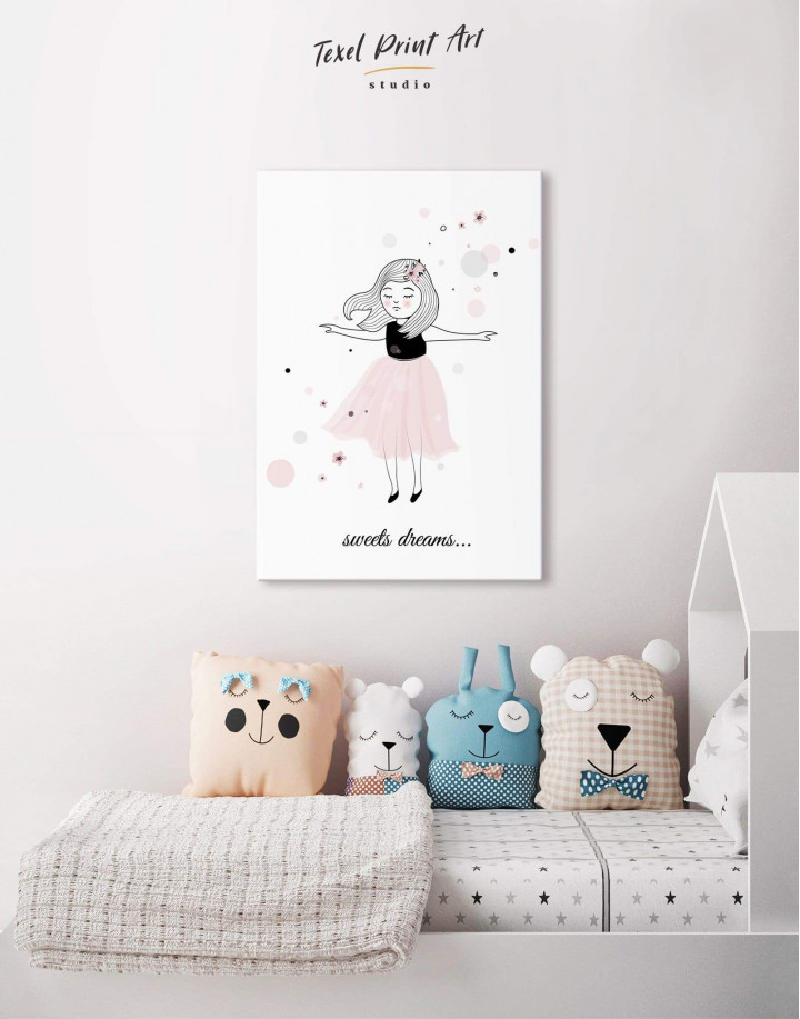 Girls Sweets Dreams Canvas Wall Art - Image 4