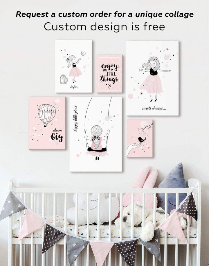 Girls Sweets Dreams Canvas Wall Art - Image 2