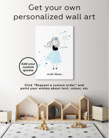 Girls Sweets Dreams Canvas Wall Art - image 1