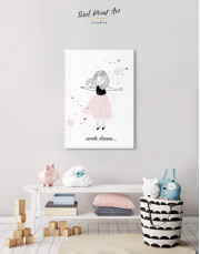 Girls Sweets Dreams Canvas Wall Art - Image 6