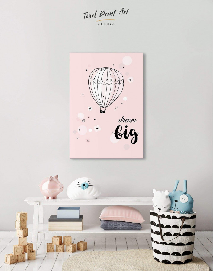 Hot Air Balloon Nursery Big Dream Canvas Wall Art - Image 2
