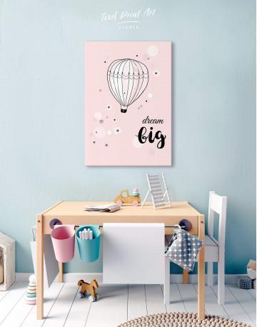 Hot Air Balloon Nursery Big Dream Canvas Wall Art - image 3
