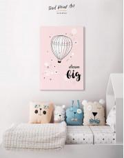 Hot Air Balloon Nursery Big Dream Canvas Wall Art