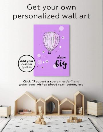 Hot Air Balloon Nursery Big Dream Canvas Wall Art - image 6