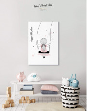Baby Girl Happy Little Place Canvas Wall Art - Image 5