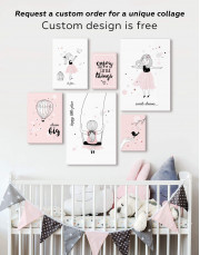 Baby Girl Happy Little Place Canvas Wall Art - Image 2