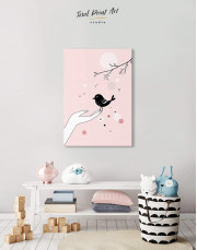 Bird Nursery Canvas Wall Art