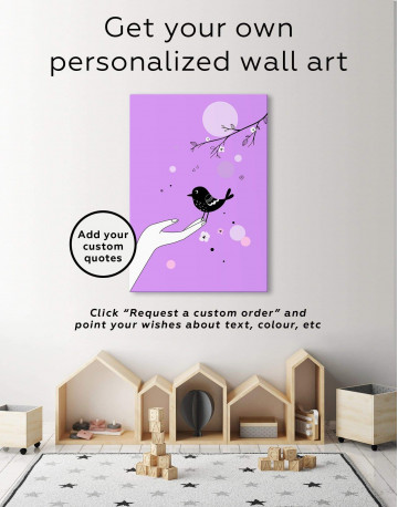 Bird Nursery Canvas Wall Art - image 1