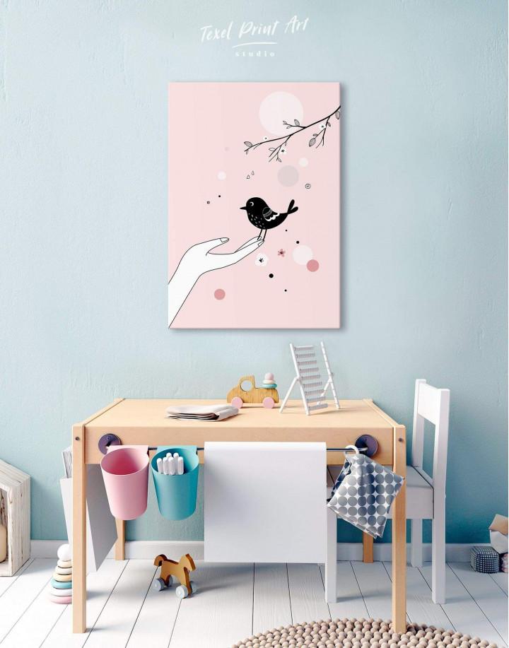 Bird Nursery Canvas Wall Art - Image 5